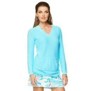 Lilly Pulitzer   Seaside Pullover Hooded Sweater